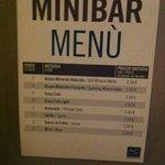 Minibar pricelist