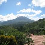 view of the volcano from the room