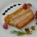 Presse de foie gras aux pommes et au pain d'épices