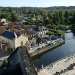 View of Brantome from the 12th century Abbey bell tower