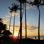 Beautiful sunset view from the Diria's beach entrance