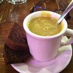 Schilo's famous Split Pea Soup with delicious dark Russian rye