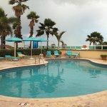 Private pool area at the Lagoon Villas