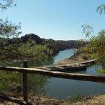 Vista de la presa en la Tajadilla.