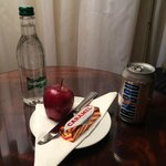 Compimentary Scottish snacks