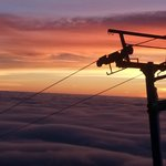 Awesome sunset from top of Palmer lift Snow Cat Ride!