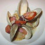 Mélange clams et charcuterie très intéressant