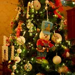 uma das inúmeras árvores de natal