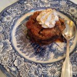 Bread pudding with chocolate and cinnamon