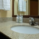 Vanity with Spa Grade Amenities - Eco Dispensers