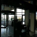 hotel entrance & metal detector