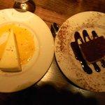 new york cheesecake and tiramatsu