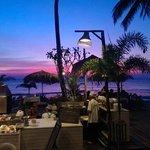 het restaurant aan het strand