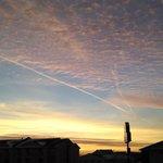 sky around the area at dusk