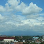 Merapi mountain, view from the window.