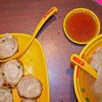Dumplings and Pork Won Ton Soup