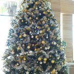 Beautiful Christmas tree in lobby