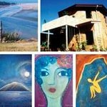 Paintings montage by Guity Evelyn at Topadahil Studios