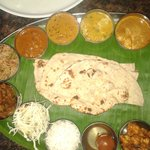 Amazing North Indian Thali In South India.