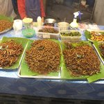Deep fried Insects.Not too bad