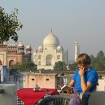 Rooftop Cafe view of Taj Mahal