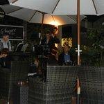 Sugar Bar courtyard with live jazz band