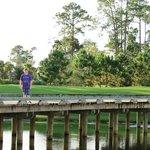 Walking path/golf course