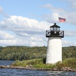 Freshwater lighthouse on the lake