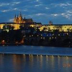 Primeira vista do Castelo de Praga.