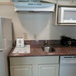 Kitchenette (with tiny coffee maker)