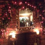 Xmas open fire place decorated for Xmas !