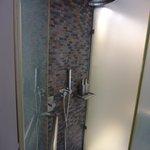 シャワールーム。取り外せるシャワーがついてます。