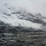 Snowy mountain peak.