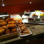 Part of the breakfast buffet