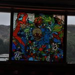 Stunning stained glass window at the Porthole