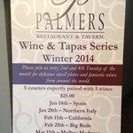 Wine & Tapas Series 2014