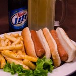 Hot Dogs and Beer at The Garden Grille & Bar South Padre Island