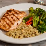 Grilled Salmon at The Garden Grille & Bar South Padre Island