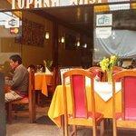 The restaurant in Aguas Calientes