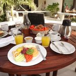 breakfast included and delivered to the room patio