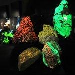 Rocks that glow under a kind of light!