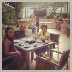 my family enjoying the Tara Angkor brekkie selection alfresco