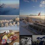 Aussicht Richtung Luzern, Winterdekoration