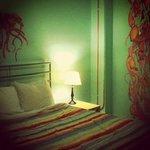 Our room designed by artist Carl Faulkner