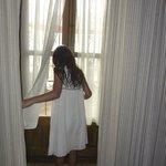 Full-sized window in Rocinante Suite