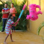 Pinata at birthday fiesta