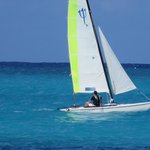 Great Sailing in protected area inside reef