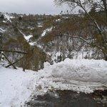 paesaggio invernale del pratomagno