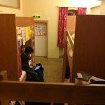 Inside room c mixed dorm 8 beds. Wooden non-shakey
