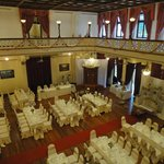 The Grand Ballroom prepared for a wedding